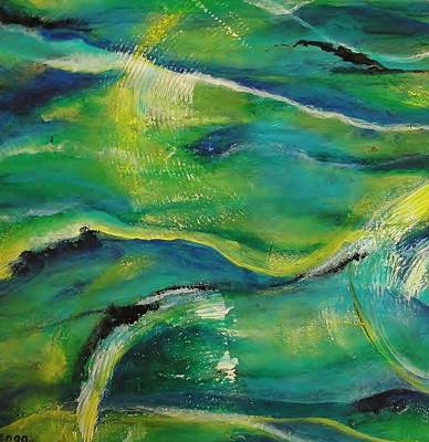 Ocean Currents 1 Art Print by Chris Keenan