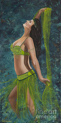 Ocean Dancer Art Print by Carol Bostan