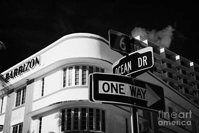 6th Street Photograph - Ocean Drive And 6th Street In The Art Deco District Of Miami South Beach Florida Usa by Joe Fox
