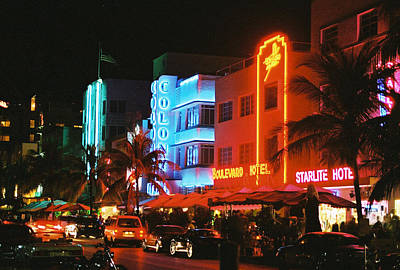 Art Print featuring the photograph Ocean Drive Film Image by Gary Dean Mercer Clark