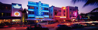Nightlife Photograph - Ocean Drive South Beach Miami Fl Usa by Panoramic Images