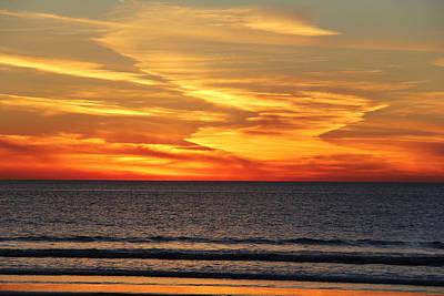 Photograph - Ocean Fire by Michael Peak