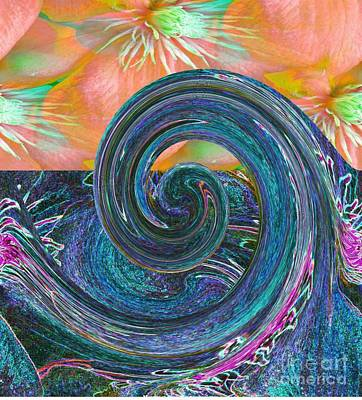 Tapestries - Textiles Painting - Ocean Flower by PainterArtist FIN
