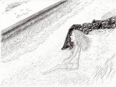 Drawing - Ocean Gaze by Jim Taylor