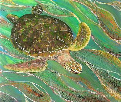 Painting - Ocean Glider 1 by Anna Skaradzinska