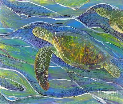 Painting - Ocean Gliders by Anna Skaradzinska