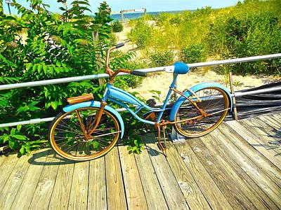 Ocean Grove Bike Art Print by Joan Reese