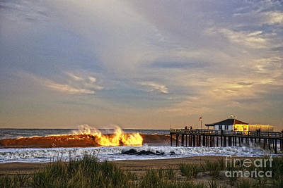 Photograph - Ocean Grove Fishing Pier by Debra Fedchin