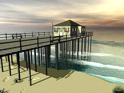 Digital Art - Ocean Grove Fishing Pier by John Pangia