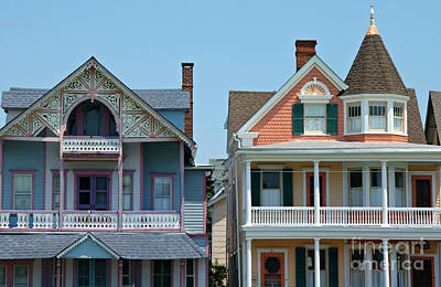 Photograph - Ocean Grove Gingerbread Homes by Anna Lisa Yoder