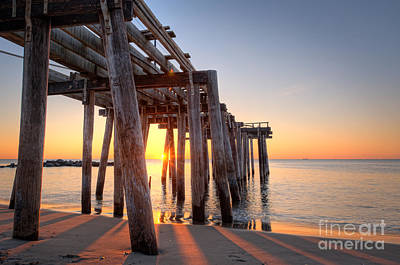 Ocean Grove Pier Sunrise Art Print by Michael Ver Sprill