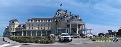 Photograph - Ocean House Pano - Rhode Island by Anna Lisa Yoder