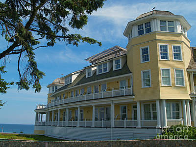 Photograph - Ocean House Side View - Watch Hill by Anna Lisa Yoder
