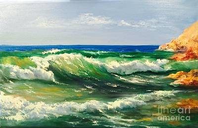 Painting - Ocean by Irene Pomirchy