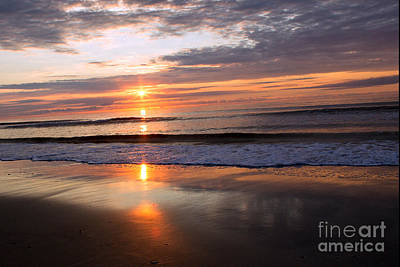 Photograph - Ocean Isle Beach At Sunrise by Sandra Clark
