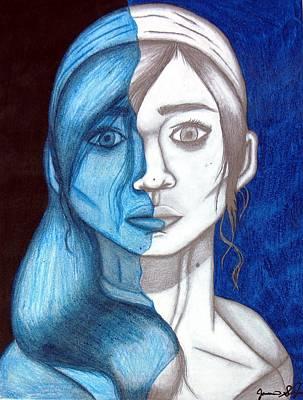 Self Shot Drawing - Ocean by Jasmine San Juan