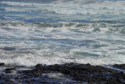Photograph - Ocean Lava 1 by Lew Davis