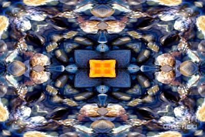 Meditation Photograph - Ocean Life Mandala Yantra by Marie Jamieson