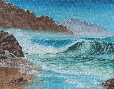Art Print featuring the painting Ocean Mist by Val Miller