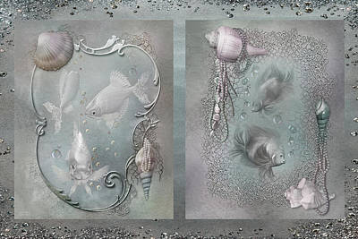 Mood Art Mixed Media - Ocean Moods by Carol Cavalaris