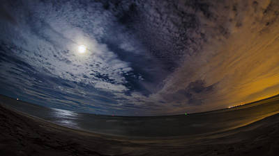 Long Island Photograph - Ocean Moon by Andrew  Craig