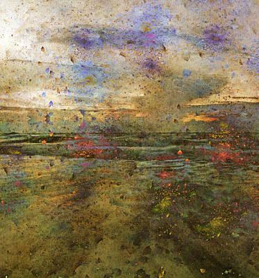 Abstract Seascape Digital Art - Ocean Morning I  by Betsy Knapp