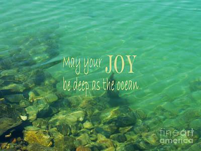 Photograph - Ocean Of Joy by Irina Wardas
