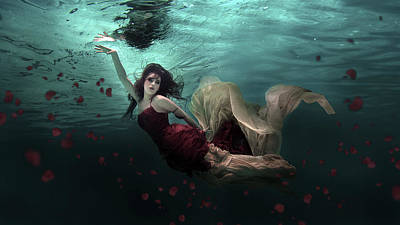 Mermaid Photograph - Ocean Of Roses by Martha Suherman
