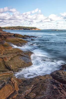Ocean On The Rocks Print by Jon Glaser