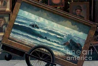 Photograph - Ocean On Wheels Artist Cart At Jackson Square New Orleans La Usa by Michael Hoard