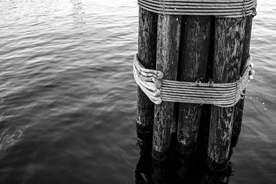 Wood Pylons Photograph - Ocean Pylon by Shannon Workman