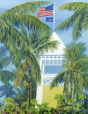 Yacht Club Painting - Ocean Reef Club by Danielle  Perry