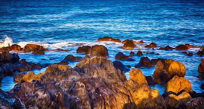 Painting - Ocean Rocks by Omaste Witkowski