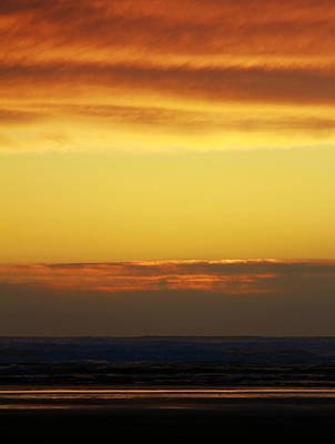 Photograph - Ocean Shores Sunset by Jeanette C Landstrom