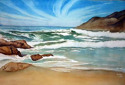 Ocean Side Art Print by Rick Huotari
