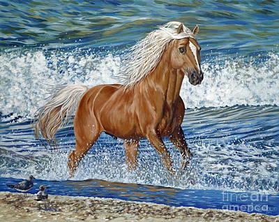 Ocean Stallion Art Print by Danielle  Perry