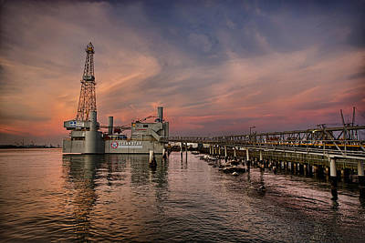 Oil Industry Photograph - Ocean Star by Thomas Zimmerman