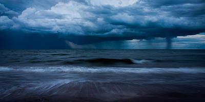 Ocean Storm Panorama Art Print