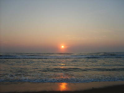 Ocean Sunrise Art Print by Deborah May