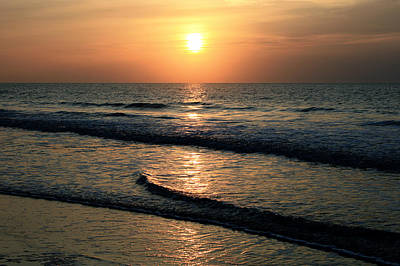 Ocean Sunrise Over Myrtle Beach Art Print