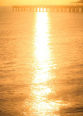 Photograph - Ocean Sunrise Sparkles by Silken Photography