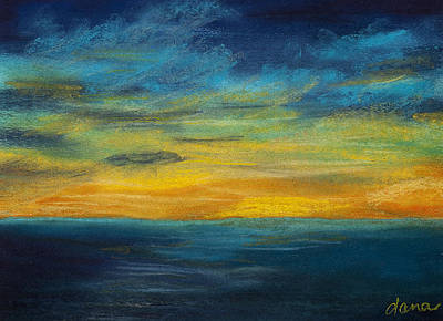 Ocean Sunset Art Print by Dana Strotheide
