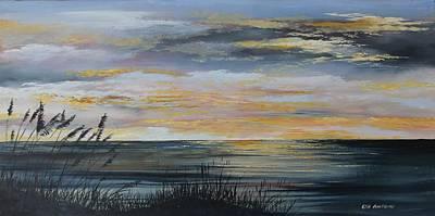 Ocean Sunset Art Print by Ken Ahlering