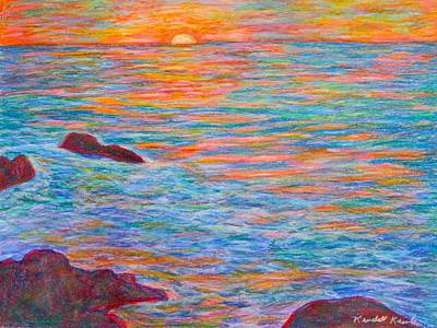 Painting - Ocean Sunset by Kendall Kessler
