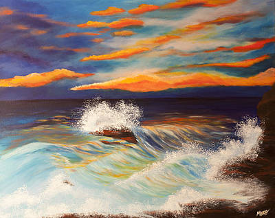 Painting - Ocean Sunset by Michelle Joseph-Long