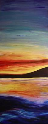 Ocean Sunset Art Print by Bex Schoof