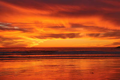 Photograph - Ocean Sunset Reflections  by Christy Pooschke