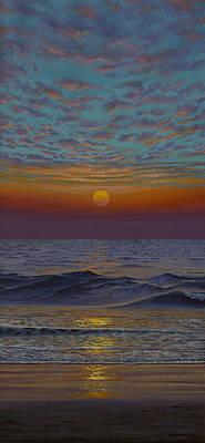 Painting - Ocean. Sunset by Vrindavan Das