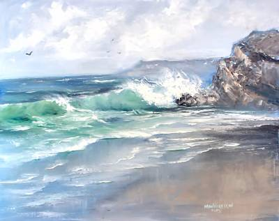 Ocean Surf Original by Melissa Herrin