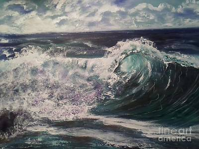 Phthalo Blue Painting - Ocean Surf by Ordy Duker